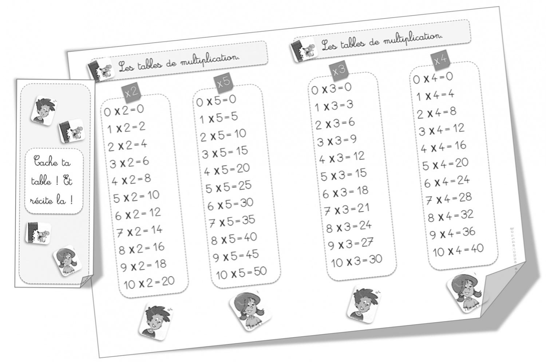 Tables De Multiplication Resultats De Recherche Bout De Gomme