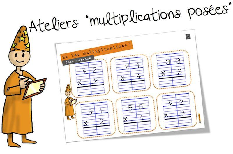 Ateliers la multiplication pos e bout de gomme - Soustraction avec retenue cm1 ...